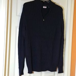 """Great condition 100% thick cotton sweater navy color, size XL, """"IZOD"""""""